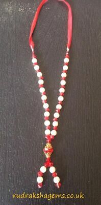 New Indian Haar For God Goddess Statues Photos Temple Altar Colored Gold Pearls