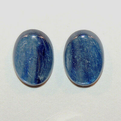 Kyanite 13x18mm with 5mm dome Cabochons Set of 2 (11074)