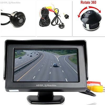 """360° Front/Sides/Rear Reverse Parking HD Camera + 4.3"""" LCD Color Display Monitor"""