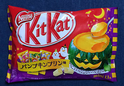 1 LIMITED Japanese Halloween Kit Kat - Pumpkin Pudding - KitKat Nestle Japan