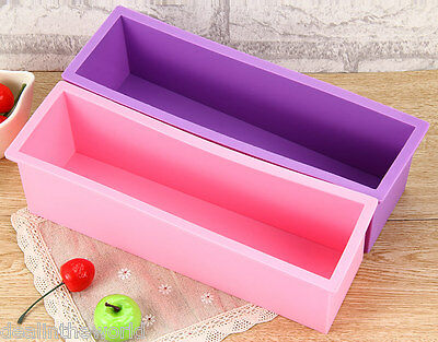 1.2L Rectangle Loaf Toast Bread Pastry Cake Soap Silicone Mold