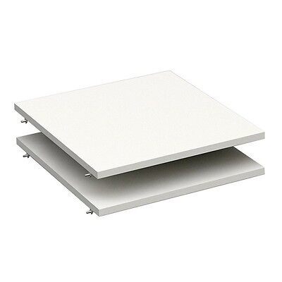 "Paris Prix - Lot de 2 Tablettes Dressing 50cm ""Facility"" Blanc"