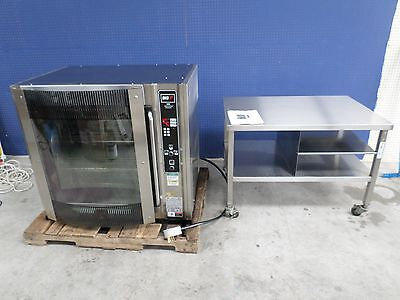 Bki Electric Pass-Thru Rotisserie Oven With Rolling Stand