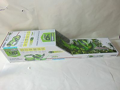"""New 40 V Greenworks Cordless 24"""" Dual Action Electric Hedge Trimmer"""