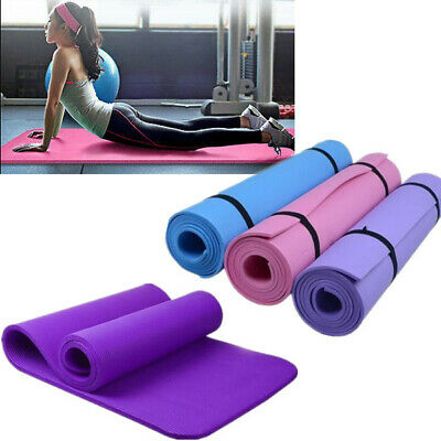 Durable 6-10mm Yoga Mat Non-slip Thick Exercise Pad Health Lose Weight Fitness