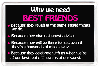 Best Friend Friendship Laugh Honest Advice Miles Saying Gift Novelty Fridge Magn