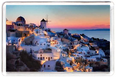 Fridge Magnet Island Water Beach Scenery Deck Holiday Town Sunset