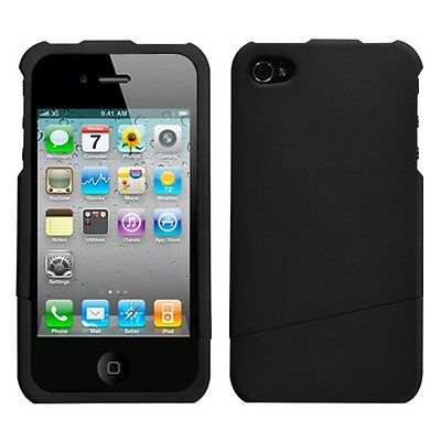 Rubberized Black Slash Phone Protector Cover Case for APPLE iPhone 4s/4