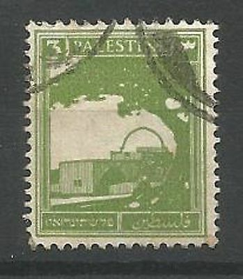 PALESTINE 1927 SG91 3m Yellow Green Good Used
