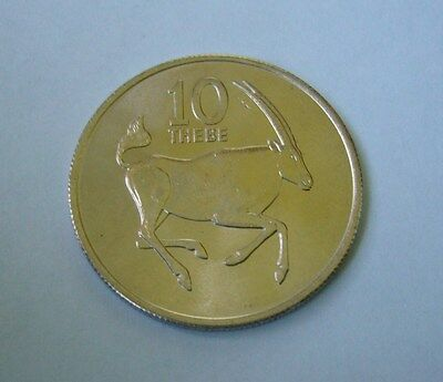 Botswana 10 Thebe 1976, South African Oryx