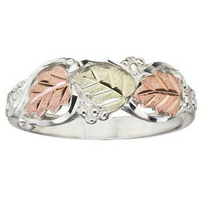 Black Hills Gold womens ring whl//half sizes 5 6 7 8 9 on .925 sterling silver