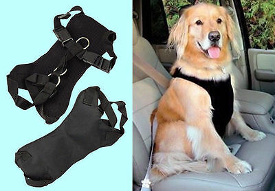 Copatchy Safety Car Seat Belt Harness and Strap For Dogs,3 Sizes BLUE,RED, BLACK