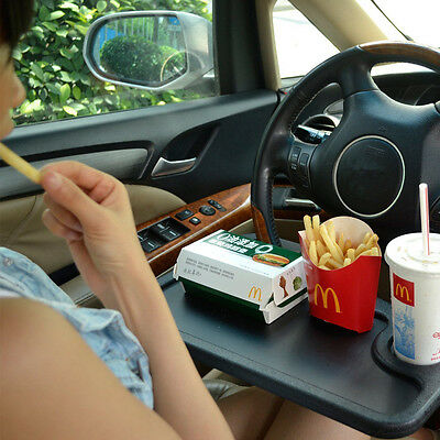 Car Steering Wheel Tray Holder Laptop Computer GPS Desk Chair Dining Table Black