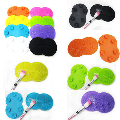 Silicone Makeup Brush Cleaner Washing Scrubber Board Cosmetic Cleaning Tool New