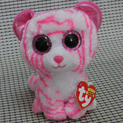 New Soft plush Toy Asia Pink Tiger From TY Beanie boos Plush Lovely Gift