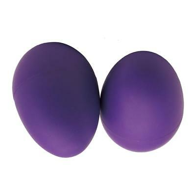 Purple Plastic SOUND EGG SHAKERS maracas hand percussion rattle music rhythm