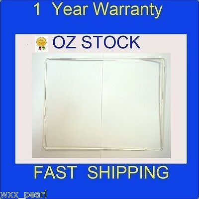 NEW iPad 2  3 Touch Screen  Digitizer Plastic Frame Bezel  white with adhesive