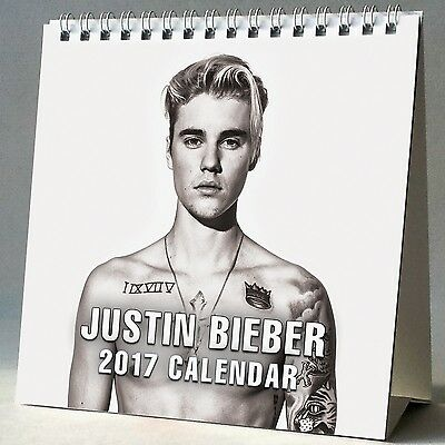 Justin Bieber Desktop Calendar 2017 NEW What Do You Mean Boyfriend Baby Sorry