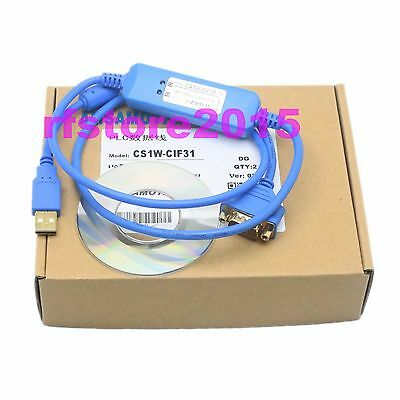 CS1W-CIF31 PLC Cable USB to RS232 adapter for omron PLC WIN7 VISTA XP