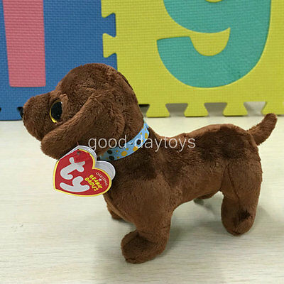 Soft TOY FROM TY BEANIES BABIES dachshund Dog Frank 6 INCH Stuffed toy