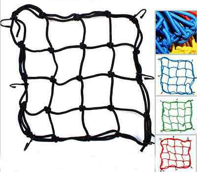 1pcs Bungee Cord Cargo Net Motorcycle Helmet Mesh Storage Tie Down Adjustable BO