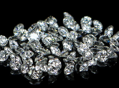 REAL 100% NATURAL Loose Round Brilliant Cut SI1-G 1 to 3 MM Per Piece Diamonds
