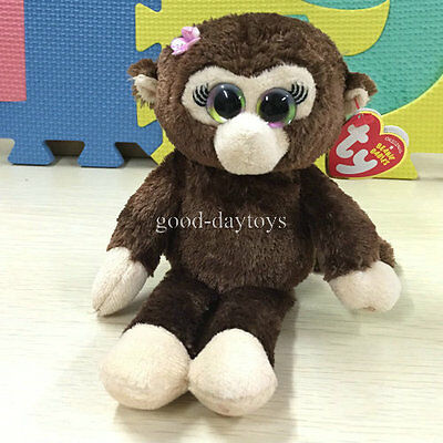 Soft Toy From TY BEANIES BABIES~Lady Monkey Petals 6inch Stuffed toy Cutie