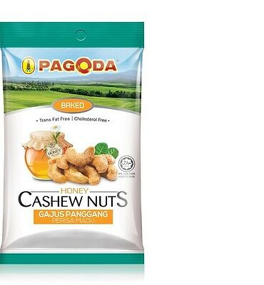 Pagoda Baked Honey Cashew Nuts 108g Trans fat free Cholesterol free Good Protein