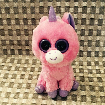 Soft TY BEANIES BOOS Magic pink Unicorn Solid eye Stuffed toy Without heart tag