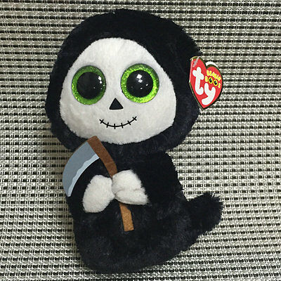 Soft Toy From TY BOOS Halloween Ghost Grimm with Reaper Stuffed Animal