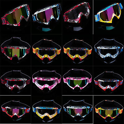 Youth Adult Motorcycle Goggles Dirt Bike Motocross MX ATV Riding Eyewear Glasses