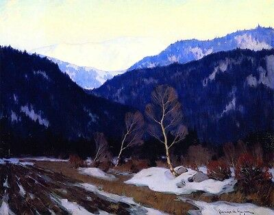 Gagnon Clarence Early Spring Morning In The Laurentian Wilds Print     #4199