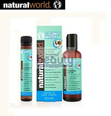 Natural World Coconut Water Hydration and Shine Weightless Hair Oil 100 ml, 25ml