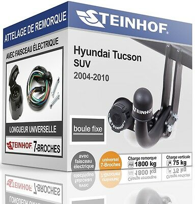 ATTELAGE fixe HYUNDAI TUCSON 2004-2010 + FAISC.UNIV.7-broches COMPLET