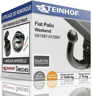 ATTELAGE fixe FIAT PALIO WEEKEND 1997-2001 + FAISC.UNIV.7 broches COMPLET