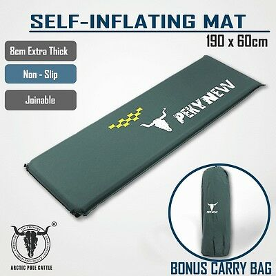 Self Inflating Mattress Sleeping Mat Pad Air Bed Camping Hiking Joinable Single