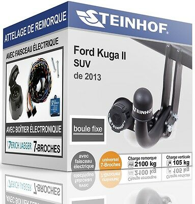 ATTELAGE fixe FORD KUGA II de 2013+FAISC.UNIV. 7broches COMPLET