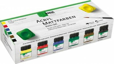 Kreul Acryl Mattfarben Basis-Set, 6x20ml
