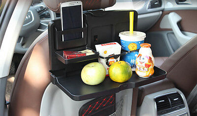 Foldable Car Back Seat Table Tray Stand Food Cup Drink Bottle Rack Holder
