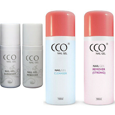 CCO UV LED SOAK OFF NAIL GEL  REMOVER AND CLEANSER 75 or 150ML BOTTLE UK