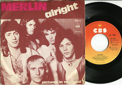 MERLIN - Alright / Pictures In My Mind 45 RARE 1974 DUTCH PS