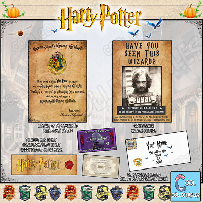 Harry Potter PERSONALISED Gift Set Hogwarts Acceptance Letter & MUCH MORE