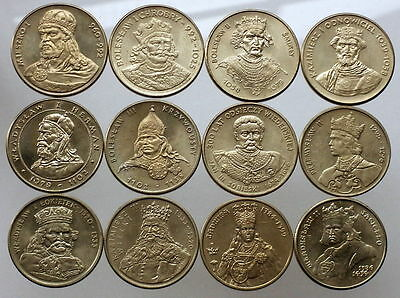 POLAND FULL SET OF 12 COINS Kings of Poland 1979 1989 UNCIRCULATED NUMISHOP