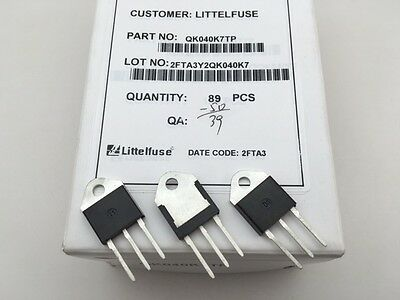 QK040K7TP Littelfuse, 1000V 40A 100-100-100mA, TRIAC Alternistor, TO-218 package