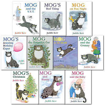 Mog Picture Book Collection - 10 Books Set Mog and the Vet Mog's ABC Judith Kerr