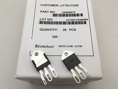(2 pcs) S4055WTP Littelfuse, 400V 55A, SCR-Thyristor (TO-218)