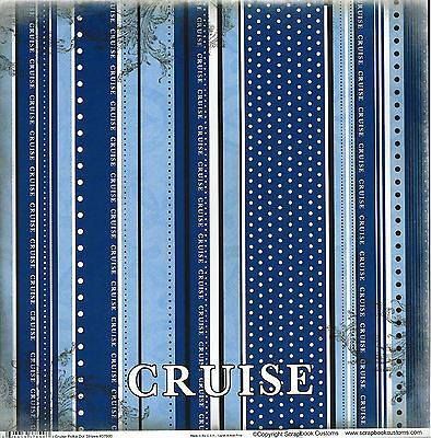 SC - Cruise Polka Dot Stripes Scrapbooking Paper SET - 1 left, 1 right - 37890