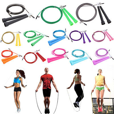 Speed Wire Skipping Adjustable Jump Rope Fitness Sport Exercise Cardio 3.0m