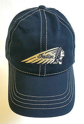 Indian Motorcycle Baseball Cap, Navy Blue, Officially Licensed, One Size Hat