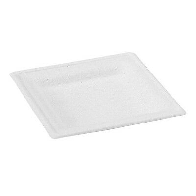 """Pulpy"" Compostable Square Sugarcane Plate 10 in."